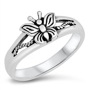 Silver Ring - Butterfly - $4.39