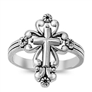 Silver Ring - Cross - $6.15