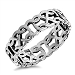 Silver Celtic Ring - $5.64