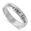 Silver Ring - Forever Love - $4.53