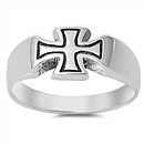 Silver Ring - Independence Cross - $5.98