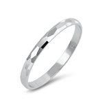 Silver Ring - Diamond Cut Band - $2.55