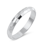 Silver Ring - Diamond Cut Band - $2.89