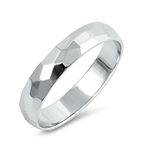 Silver Ring - Diamond Cut Band - $3.29