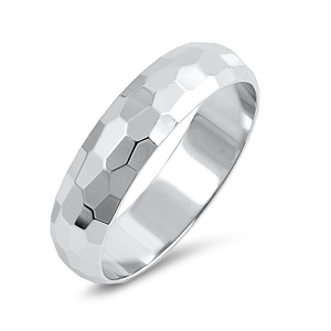 Silver Ring - Diamond Cut Band - $5.99