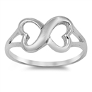 Silver Ring - Infinity Heart Sign - $4.28