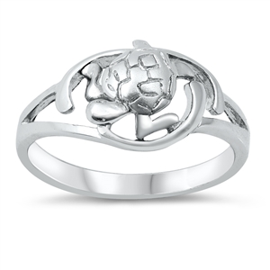 Silver Ring - Turtle - $4.45