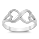Silver Ring - Infinity Heart - $5.13
