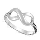 Silver Infinity Ring - $4.2