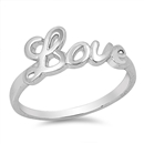 Silver Ring - Love - $3.15