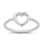 Silver Ring - Heart - $1.85