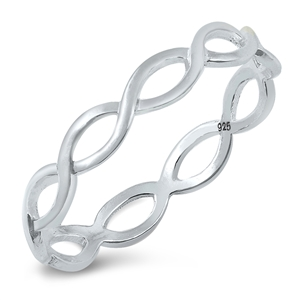 Silver Braid Ring - $1.89
