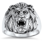 Silver Ring - Lion Head - $15.39