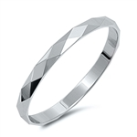 Silver Ring - Diamond Cut Band - $2.05