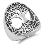 Silver Ring - Tree of Life - $9.15