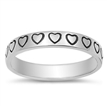 Silver Ring - Hearts - $3.83