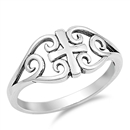 Silver Ring - Medieval Cross - $3.45
