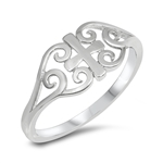 Silver Ring - Medieval Cross - $3.58