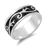 Silver Ring - Vines - $6.99