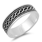 Silver Braided Band Ring - $6.65