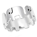 Silver Ring - Lucky Elephants - $7.59