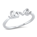 Silver Ring - Love - $3.72