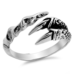 Silver Ring - Eagle Claw - $6.24