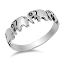 Silver Ring - Elephants - $3.91