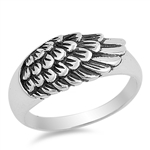 Silver Ring - Angel Wing - $5.72