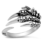 Silver Ring - Eagle Claw - $9.96