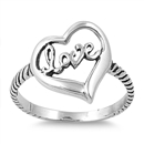 Silver Ring - Heart/Love - $3.54