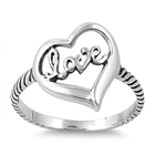 Silver Ring - Heart/Love - $4.39