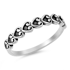 Silver Heart Ring - $2.99