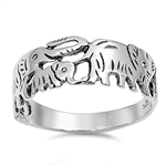 Silver Ring - Elephants - $4.75