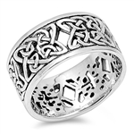 Silver Celtic Ring - $8.55