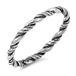 Silver Ring - Twisted - $2.89