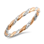 Silver Ring - Twisted - $3.29