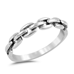 Silver Chain Ring - $3.81
