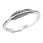 Silver Ring - Feather - Start $2.48