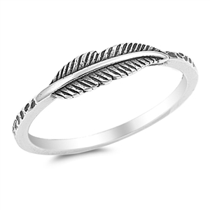Silver Ring - Feather - Start $2.69