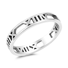 Silver Ring - Roman Numeral Band - $2.57