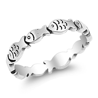 Silver Ring - Little Fish - $3.59
