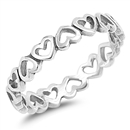 Silver Ring - Hearts - $3.64