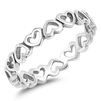 Silver Ring - Hearts - $2.74