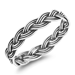 Silver Ring - Braid - $2.89