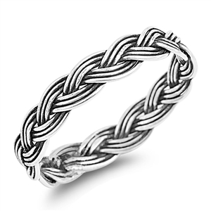 Silver Ring - Braid - $2.92