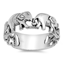 Silver Ring - Elephants - $7.13