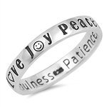 Silver Ring - Peace Love Joy - $4.07