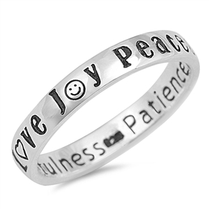 Silver Ring - Peace Love Joy - Start $4.96