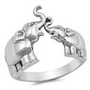 Silver Ring - Elephants - $4.85